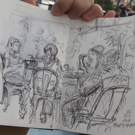 Cafe; Ballpoint pen