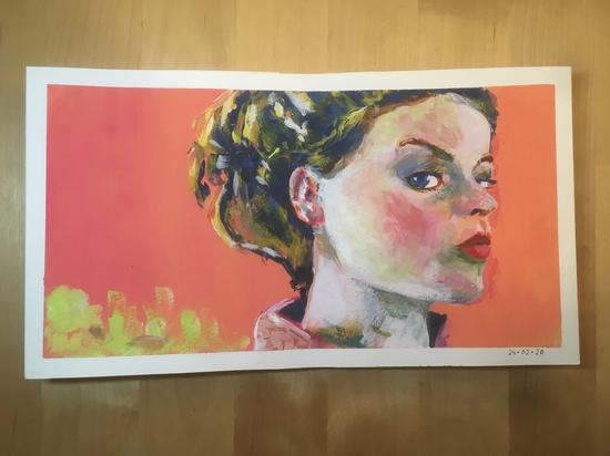 Acryla Girl; Acrylic gouache