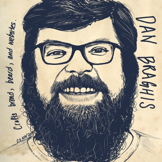 Dan Braghis; Dry ink brush on Procreate
