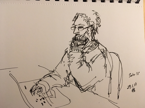 Peter on his computer; Platinum Carbon Pen