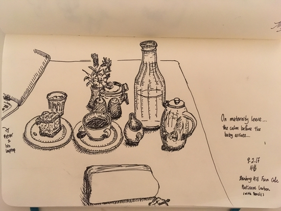 Afternoon tea at The Shed; Platinum Carbon Pen