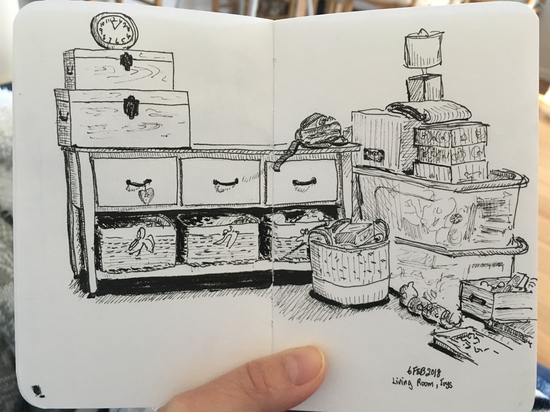 Our living room (again); Fineliner