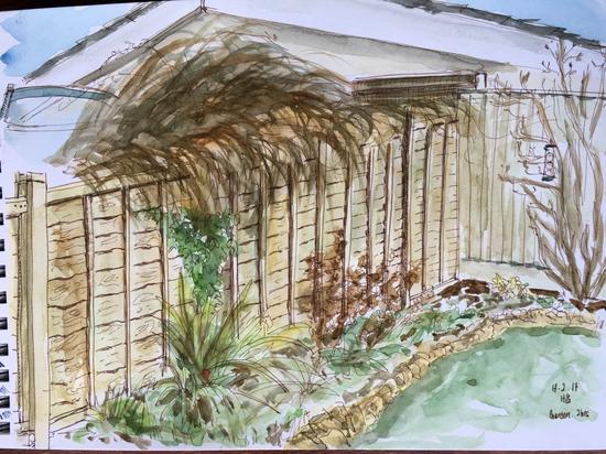 Our garden; Watercolour