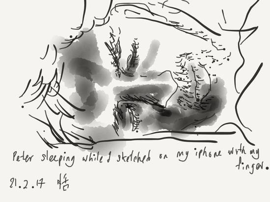 Peter sleeping