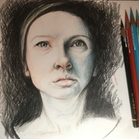 Ania Chiaroscuro; Colour Pencils