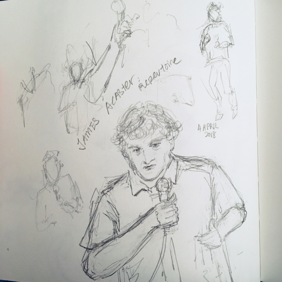 James Acaster; Pencil