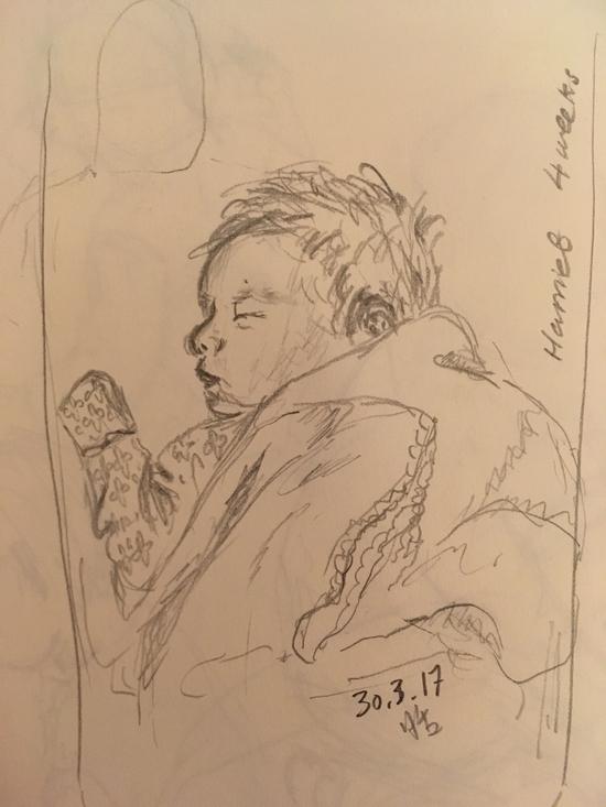 Harriet baby; Pencil