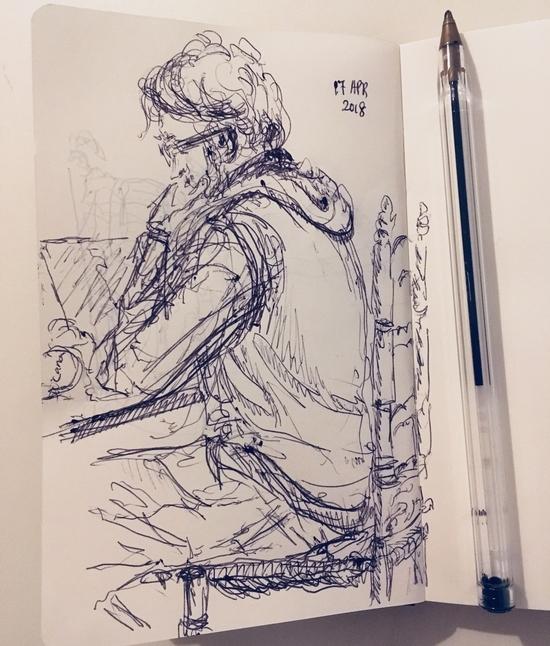 Peter in ballpoint; Ballpoint pen