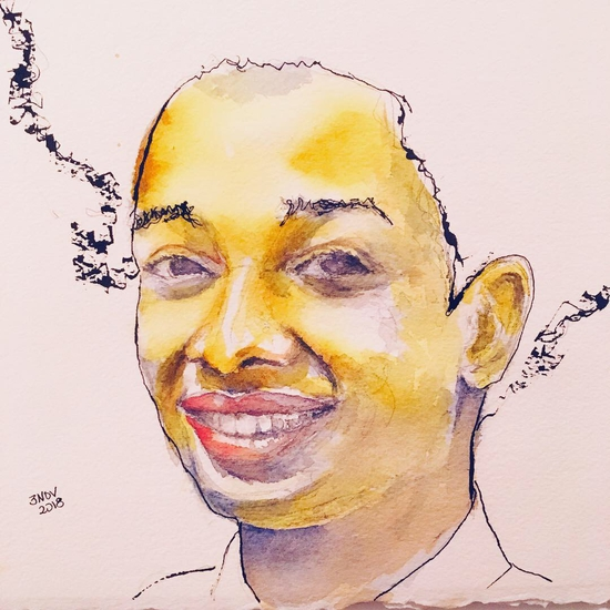 Nickel Azo Yellow face; Watercolour
