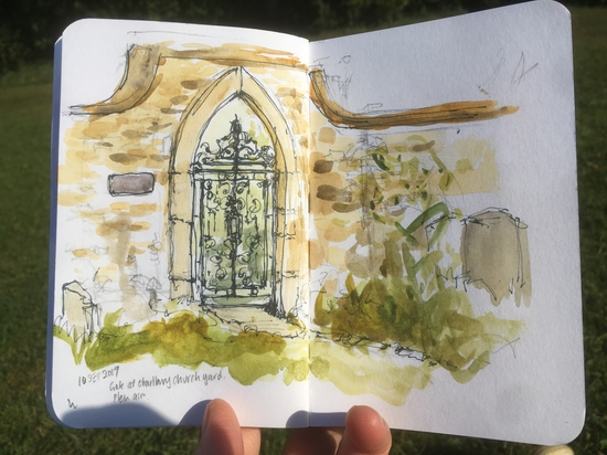 The Ivy House; Watercolour and fountain pen on Stillman & Birn Alpha sketchbook