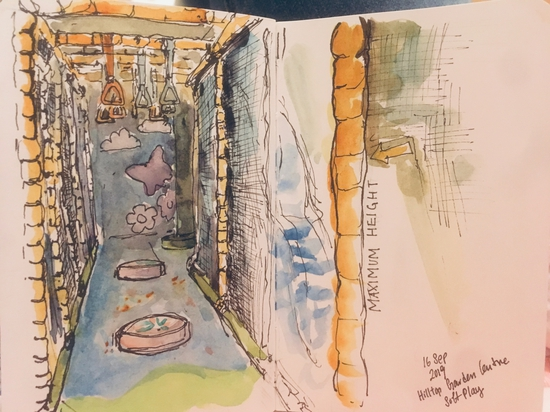 Soft play; Watercolour and fountain pen on Stillman & Birn Alpha sketchbook