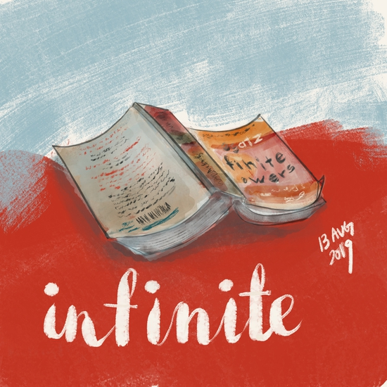Infinite; Gouache brushes on Procreate