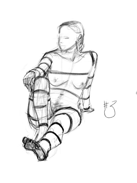 Life of drawing: week 9; 6B pencil brush on iPad Procreate