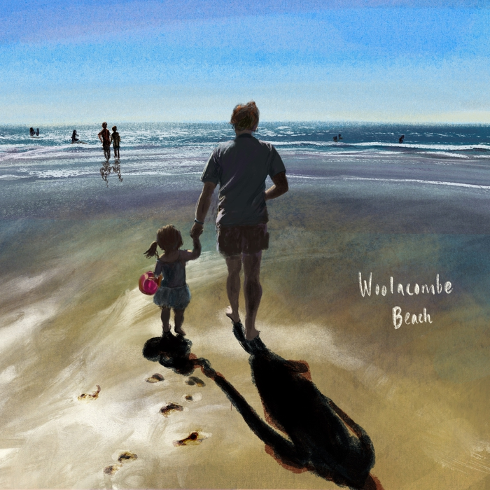 Peter & Harriet fetching sea water; Mixed brushes on Procreate