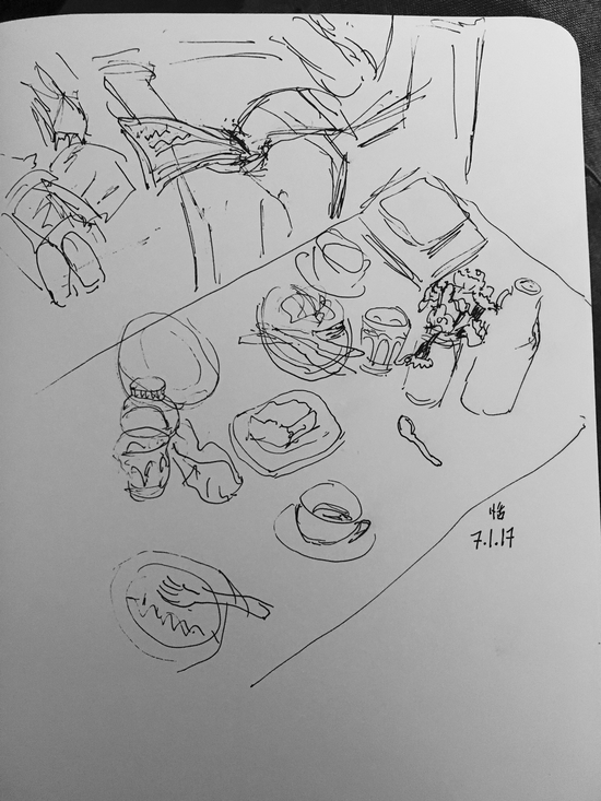 Lunch at Coffeesmith; Platinum carbon pen