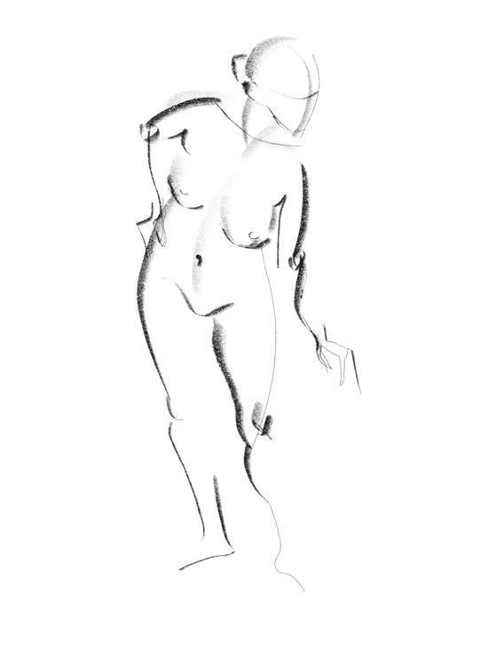 Life of drawing: week 5; 6B pencil brush on iPad procreate